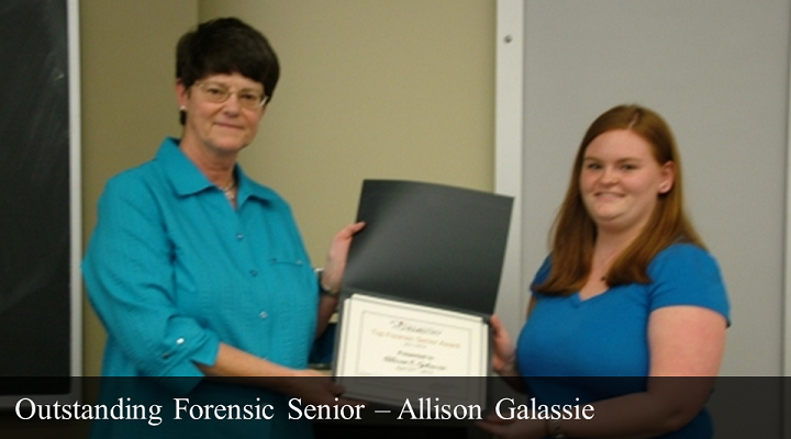 2012 Outstanding Forensic Senior - Allison Galassie