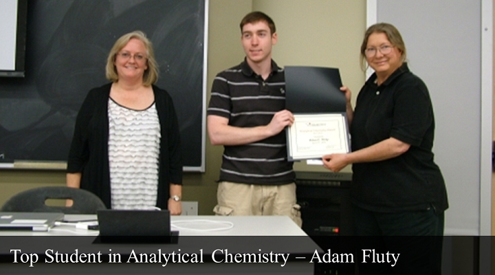 2012 Top Student in Analytical Chemistry - Adam Fluty