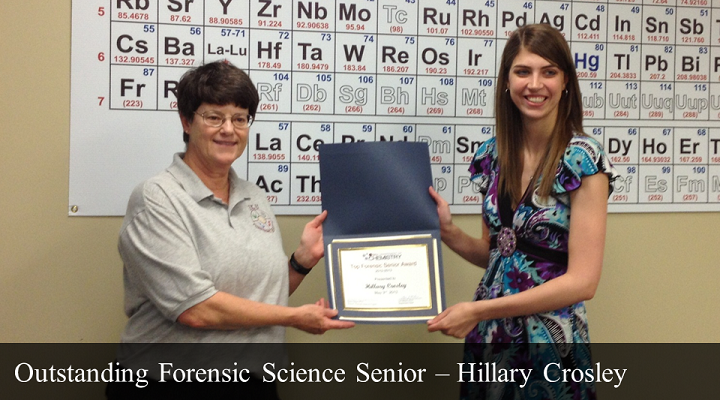 Outstanding Forensic Senior - Hillary Crosley