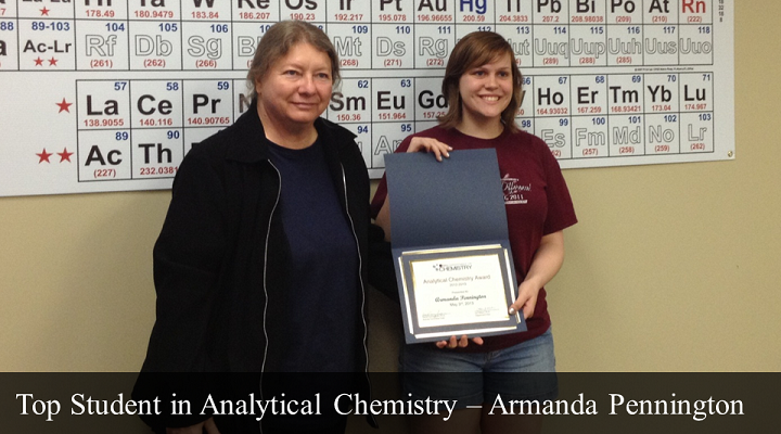 Top Student in Analytical Chemistry - Armanda Pennington