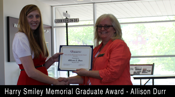 2015 Harry Smiley Memorial Graduate Award - Allison Durr