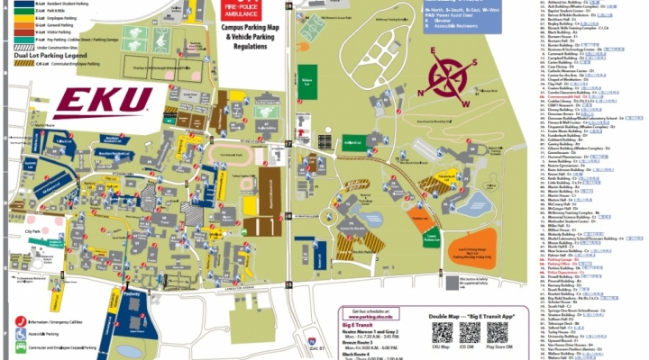 EKU Campus - Parking Map