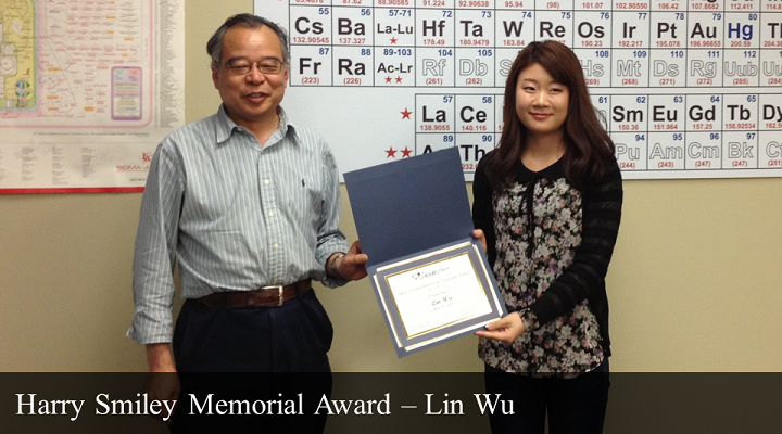 Harry Smiley Memorial Award - Lin Wu