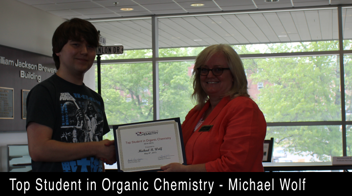 2015 Top Student in Organic Chemistry - Michael Wolf