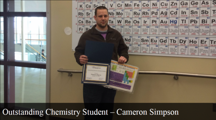 Outstanding General Chemistry Student - Cameron Simpson