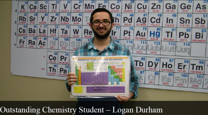 Outstanding General Chemistry Student - Logan Durham