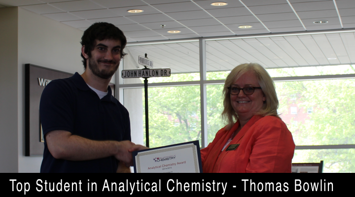 2015 Top Student in Analytical Chemistry - Thomas Bowlin